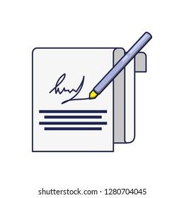 document contract signature icon