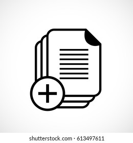 Document copy vector icon illustration on white background