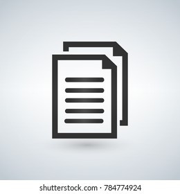 Document copy vector icon. Illustration isolated for graphic and web design.