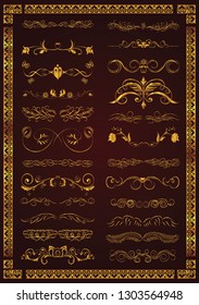 document decorative elements elegant classical symmetric