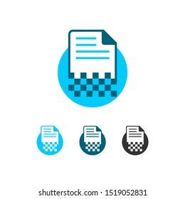Document Digitalization Logo Icon Symbol