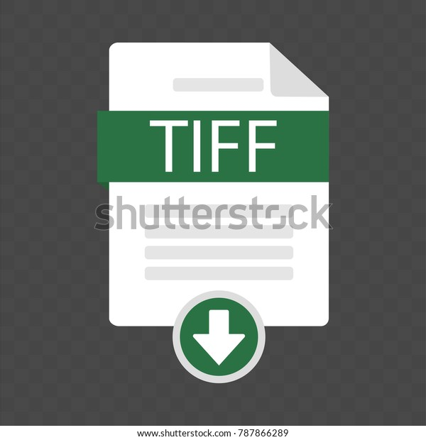 Document Download Icon Tiff File Tiff Stock Vector (Royalty