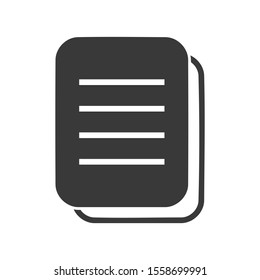 Document or file icon in simple vector