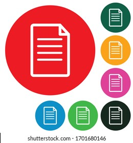 document file paper color element symbol