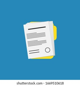 Document file vector icon.Flat icon.Business agreement. illustration