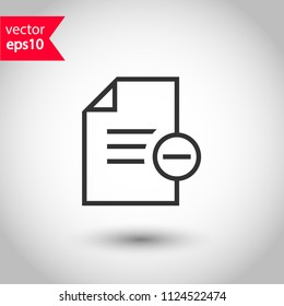Document and files vector icon. Add file. delete file icon. Office files and documents icon. Studio background. EPS 10 vector sign
