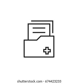 Document flat vector icon. Archive data file symbol logo illustration.