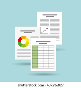 document format flat icon vector illustration design