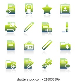 Document green icons.