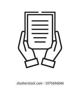 Document handover icon Vector line