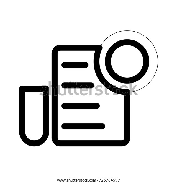 Document Icon Stock Vector Royalty Free 726764599