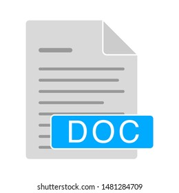 document icon. flat illustration of doc vector icon. doc sign symbol