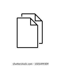 Document Icon, Flat Illustration Of File Copy, Duplicate Sign Symbol – Vector