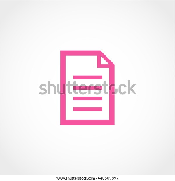 document Icon Isolated on White Background