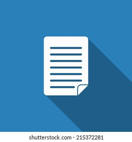 document icon with long shadow