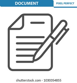 Document Icon. Professional, pixel perfect icons optimized for both large and small resolutions. EPS 8 format. 12x size for preview.