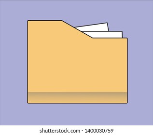 Document Icon Vector Illustration, Simple design