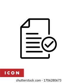 Document icon vector. Paper icon illustration