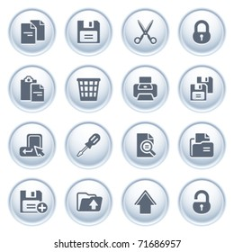Document icons on buttons, set 1