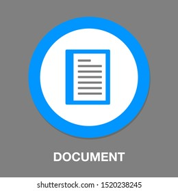 Document list - paper icon - web page symbol - office file format