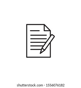 Document with pencil icon vector