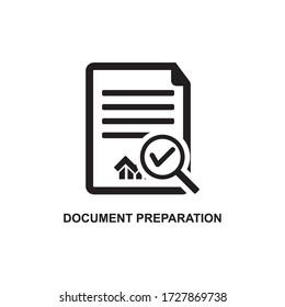DOCUMENT PREPARATION ICON , PROJECT ICON
