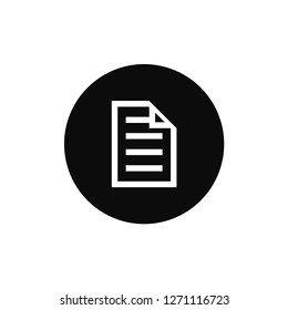 Document rounded icon