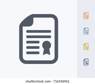 Document & Seal - Carbon Icons. A professional, pixel-aligned icon.