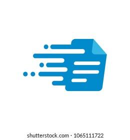 Document Speed Logo Icon Design