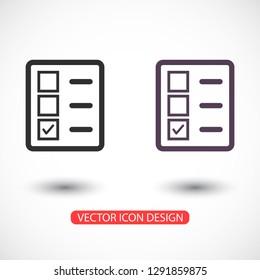 document tick vector icon