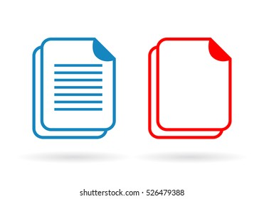 Document vector icon illustration isolated on white background. Documents vector pictogram.