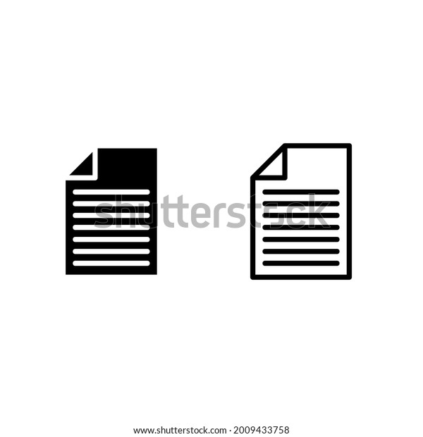 Document Vector Icon. illustration on white background