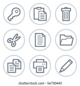 Document web icons set 1, white circle series