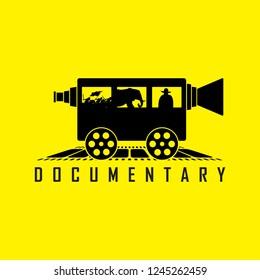 Documentary train vector design