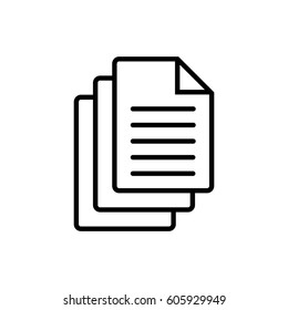 Documents icon stock vector illustration flat design