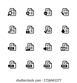 Documents Icons - 1 // Black Series
