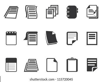 Documents icons set