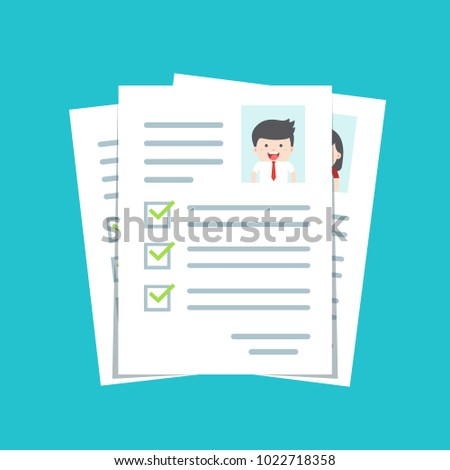 Documents Personal Data Cv Resume Template Stock Vector (Royalty ...