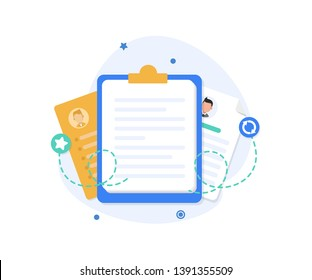 Documents and personal history,Personal info data icon vector