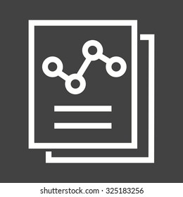 Documents, statistics, report, file icon vector image. Can also be used for SEO, digital marketing, technology. Suitable for web apps, mobile apps and print media.