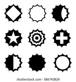 Dodecagon shapes icon/logo set
