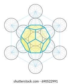Dodecahedron icon vector
