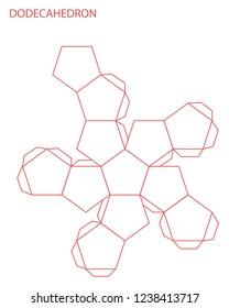 Dodecahedron Template | Dodecahedron Template Images Stock Photos Vectors Shutterstock