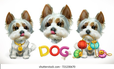Dog, animal in the Chinese zodiac. Chinese calendar 3d vector icon
