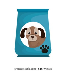 dog bag food mascot