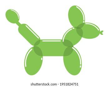 dog balloon animal green icon