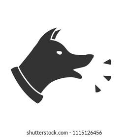 Dog Barking icon. Clipart image isolated on white background