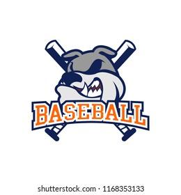 Dog Baseball Logo