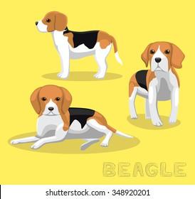 Dog Beagle Cartoon Vector Illustration
