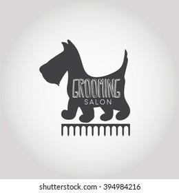 Dog beauty and grooming salon logo